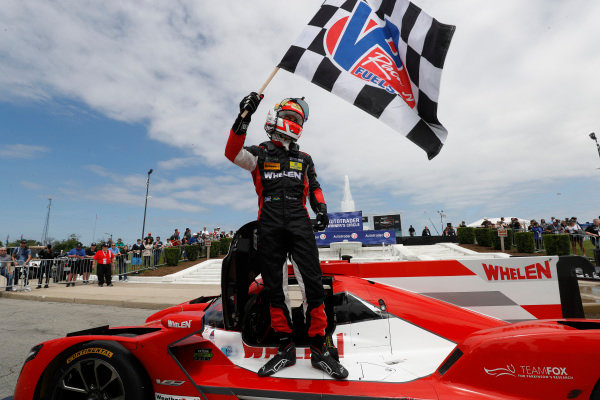 #31 Action Express Racing Cadillac DPi, P: Felipe Nasr, victory lane