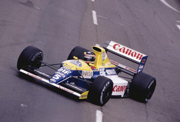 1990 United States Grand Prix.Phoenix, Arizona, USA. 9-11 March 1990.Thierry Boutsen (Williams FW13B Renault) 3rd position.Ref-90 USA 58.World Copyright - LAT Photographic