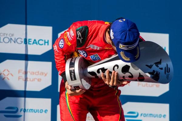 2015/2016 FIA Formula E Championship. Long Beach ePrix, Long Beach, California, United States of America. Sunday 3 April 2016. Lucas Di Grassi (BRA), ABT Audi Sport FE01. Photo: Zak Mauger/LAT/Formula E ref: Digital Image _79P6859