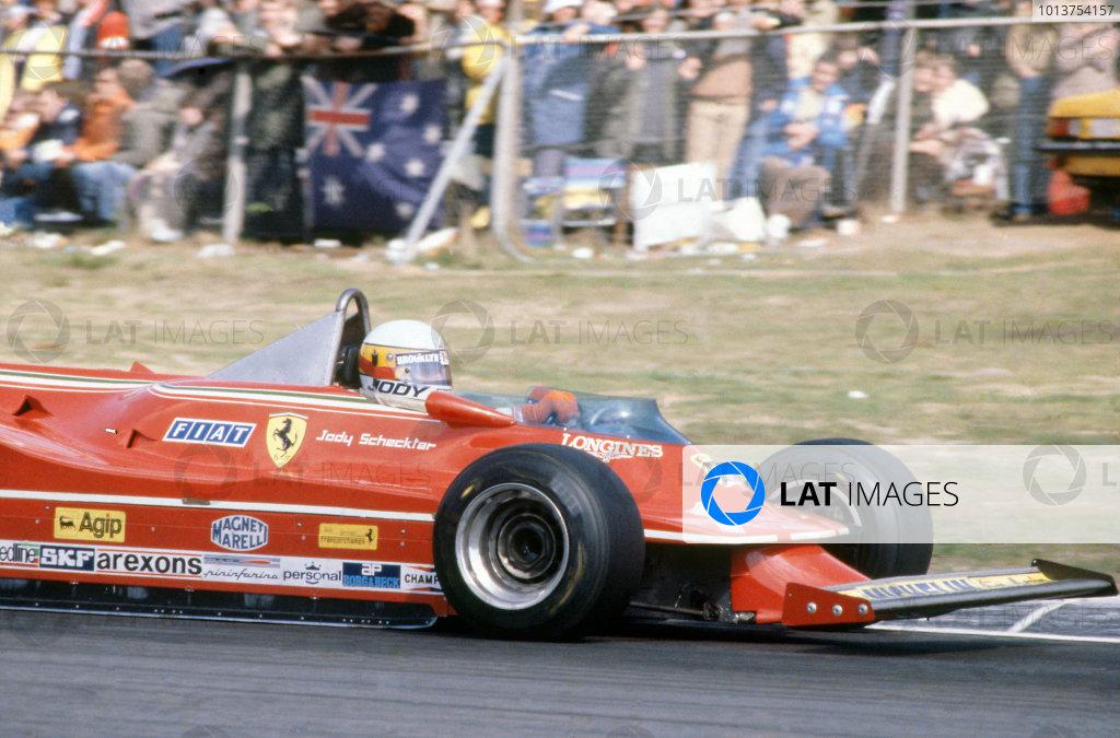 Zolder, Belgium. 2-4 May 1980. Jody Scheckter, Ferrari 312T5, 8th position. World Copyright: LAT Photographic. Ref: 80BEL03