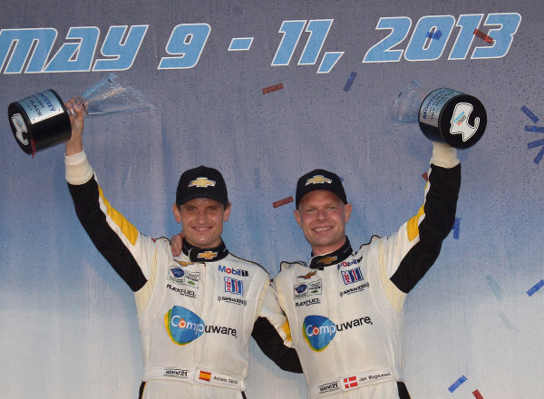 9-11 May, 2013, Monterey, California USA.#3 Corvette Racing's GTC class winners ©2013, Dan R. Boyd LAT Photo USA