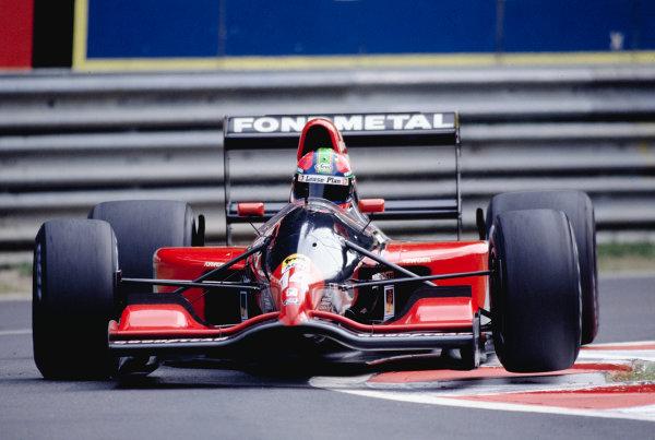 1992 Belgian Grand Prix.Spa-Francorchamps, Belgium. 28-30 August 1992.Eric van de Poele (Fondmetal GR02 Ford) 10th position.Ref-92 BEL 26.World Copyright - LAT Photographic