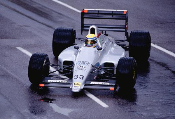 1990 United States Grand Prix.Phoenix, Arizona, USA.9-11 March 1990.Roberto Moreno (Eurobrun ER189 Judd) 13th position.Ref-90 USA 48.World Copyright - LAT Photographic