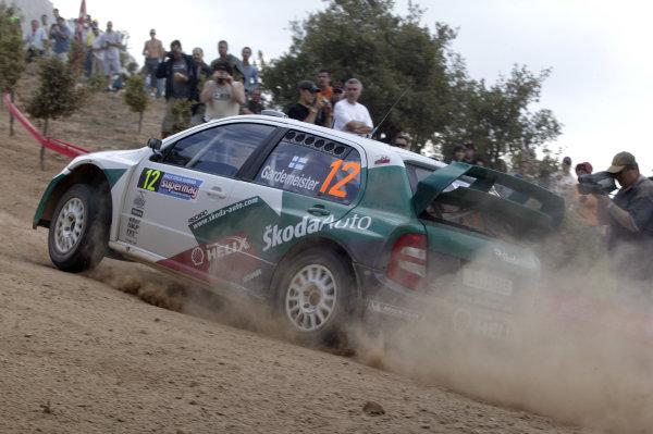 2004 FIA World Rally Champs. Round thirteen, Rally Italia Sardinia.30th September - 3rd October 2004.Toni Gardemeister, Skoda, actionWorld Copyright: McKlein/LAT