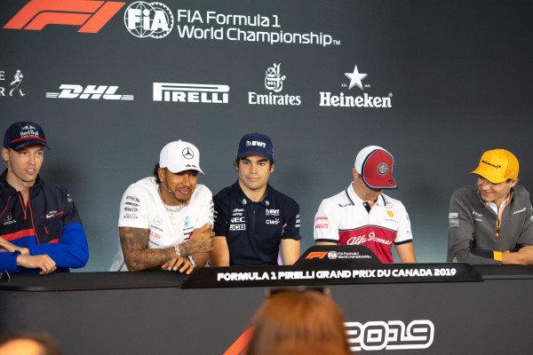 Daniil Kvyat, Toro Rosso, Lewis Hamilton, Mercedes AMG F1, Lance Stroll, Racing Point, Kimi Raikkonen, Alfa Romeo Racing and Lando Norris, McLaren