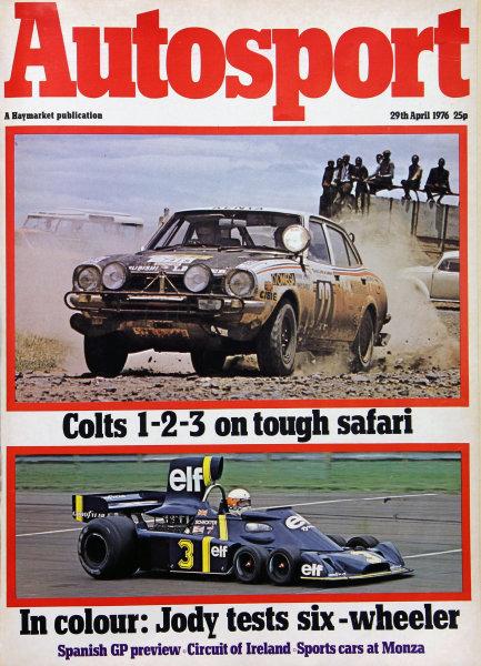 Cover of Autosport magazine, 29th April 1976