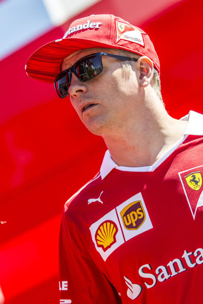 Kimi Raikkonen (FIN) Ferrari at Formula One World Championship, Rd9, Austrian Grand Prix, Preparations, Spielberg, Austria, Thursday 6 July 2017.