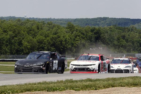 #54: Ty Gibbs, Joe Gibbs Racing, Toyota Supra Joe Gibbs Racing and #16: A.J. Allmendinger, Kaulig Racing, Chevrolet Camaro RAMCO Specialties Inc