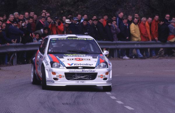 FIA World Rally ChampsCatalunya Rally, Spain. 30/3-2/4/2000Colin McRae, Ford Focus WRC, 1st place.photo: World - McKleintel: (+44) 0208 251 3000e-mail: digital@latphoto.co uk35mm Original Image.