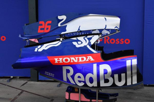 Daniil Kvyat's Toro Roso STR14 bodywork in the pit lane