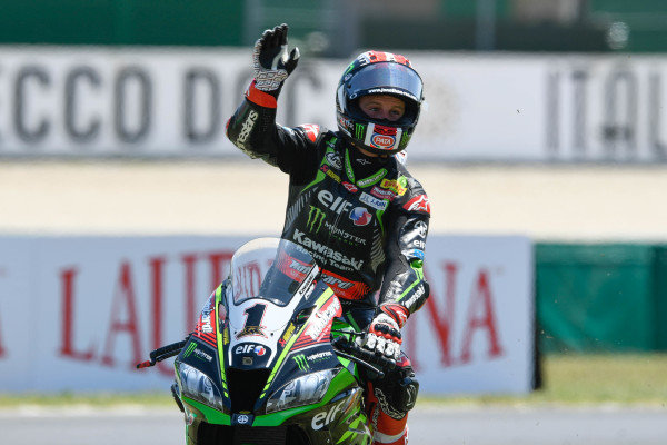 Race winner Jonathan Rea, Kawasaki Racing.