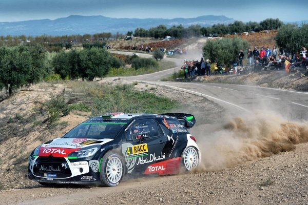 Mads Ostberg (NOR) / Jonas Andersson (SWE), Citroen DS3 WRC at FIA World Rally Championship, Rd12, RAAC Rally de Espana, Day Three, Costa Daurada, Catalunya, Spain, 25 October 2015.
