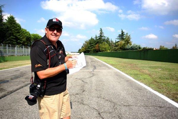 Mark Sutton (GBR), Photographer. Imola Track Walk, Imola, San Marino, Thursday 17 September 2009.