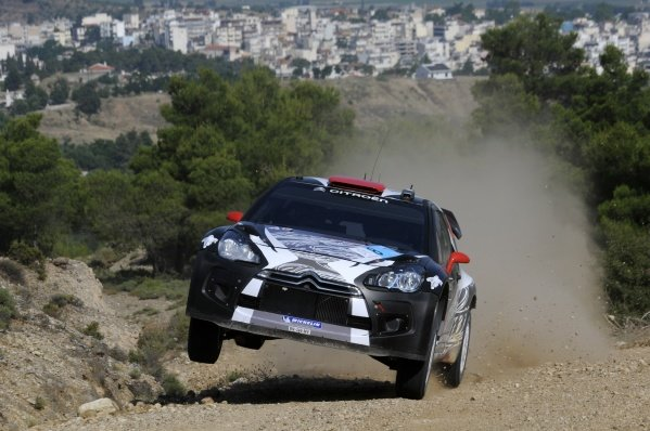 Kimi Raikkonen (FIN), Citroen DS3 WRC, on stage 1. World Rally Championship, Rd7, Acropolis Rally, Loutraki, Greece, Day One, Friday 17 June 2011.