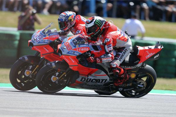 Andrea Dovizioso, Ducati Team, Jorge Lorenzo, Ducati Team.