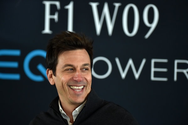 Mercedes-AMG F1 W09 EQ Power+ Launch and First Run Silverstone, England, 22 February 2018. Toto Wolff (AUT) Mercedes AMG F1 Director of Motorsport World Copyright: Simon Galloway/Sutton Images/LAT Images Photo ref: SUT_Mercedes_AMG_F_1567637