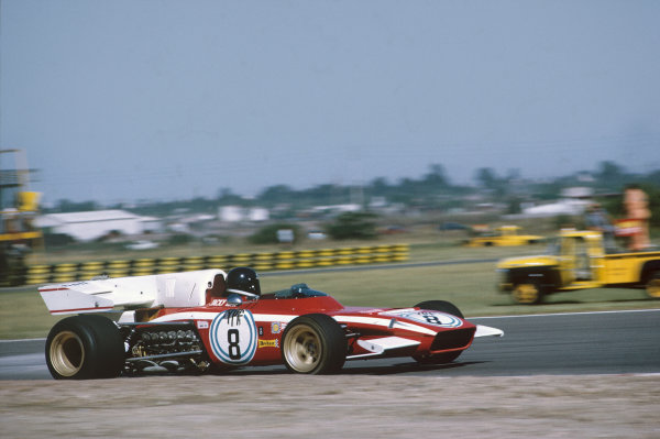 1972 Argentinian Grand Prix.  Buenos Aires, Argentina. 21-23rd January 1972.  Jacky Ickx, Ferrari 312B2, 3rd position.  Ref: 72ARG01. World Copyright: LAT Photographic