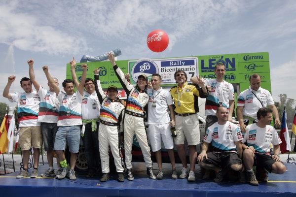 2010 FIA World Rally ChampionshipRound 02Rally Mexico 4-7 Mars 2010Armindo Araujo, Mitsubishi PWRC, PodiumWorldwide Copyright: McKlein/LAT