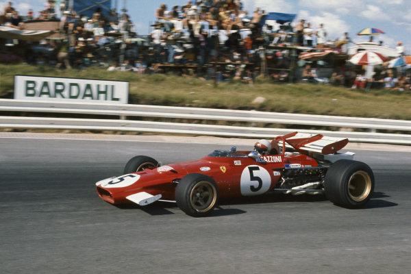 1971 South African Grand Prix.  Kyalami, South Africa. 4-6th March 1971.  Clay Regazzoni, Ferrari 312B, 3rd position.  Ref: 71SA21. World Copyright: LAT Photographic