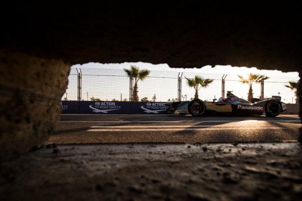 2016/2017 FIA Formula E Championship. Marrakesh ePrix, Circuit International Automobile Moulay El Hassan, Marrakesh, Morocco. Mitch Evans (NZL), Jaguar Racing, Spark-Jaguar, Jaguar I-Type 1.  Saturday 12 November 2016. Photo: Sam Bloxham/LAT/Formula E ref: Digital Image _SLA6957