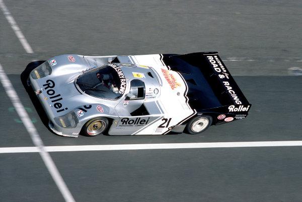1984 Le Mans 24 HoursLe Mans, France. 16th - 17th June 1984. Chris Craft/Alain de Cadenet/Allan Grice (Porsche 956), retired, action.  World Copyright: LAT Photographic. Ref:  84LM21.