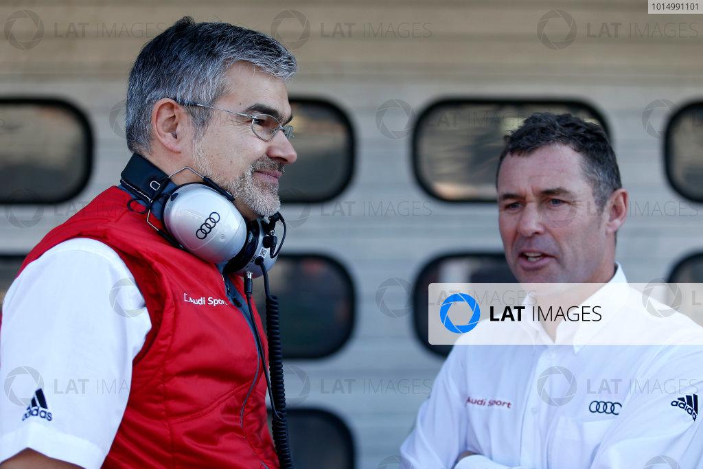 2017 DTM Round 9  Hockenheimring, Germany  Saturday 14 October 2017. Dieter Gass, Head of DTM Audi Sport with Tom Kristensen  World Copyright: Alexander Trienitz/LAT Images ref: Digital Image 2017-DTM-HH2-AT2-0516