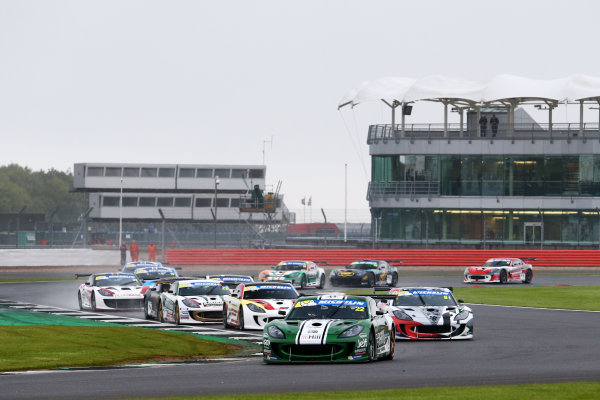 2017 Ginetta GT4 Championship, Silverstone, Northants, UK. 16th-17th September 2017 Start, Ben Green Century Motorsport Ginetta G55  World copyright. JEP/LAT Images