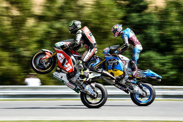 2017 MotoGP Championship - Round 10 Brno, Czech Republic Saturday 5 August 2017 Cal Crutchlow, Team LCR Honda, Jack Miller, Estrella Galicia 0,0 Marc VDS World Copyright: Gold and Goose / LAT Images ref: Digital Image 684496