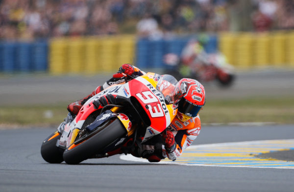 2016 MotoGP Championship.  French Grand Prix.  Le Mans, France. 6th - 8th May 2016.  Marc Marquez, Honda.  Ref: _W7_8025a. World copyright: Kevin Wood/LAT Photographic