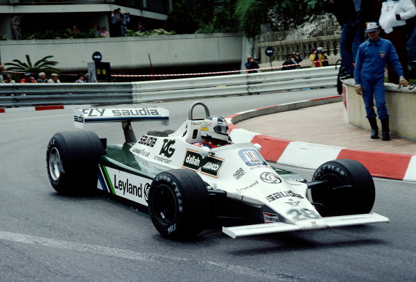 1980 Monaco Grand Prix.Monte Carlo, Monaco.15-18 May 1980.Carlos Reutemann (Williams FW07B Ford) 1st position.Ref-80 MON 43.World Copyright - LAT Photographic