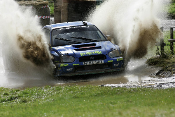 2004 FIA World Rally Champs. Round twelve, Wales Rally GB.16th- 19th September 2004.Petter Solberg, Subaru, action.World Copyright: McKlein/LAT