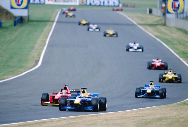 2003 International F3000 - raceSilverstone, England. 20th July 2003The start of the raceWorld Copyright - LAT Photographicref: Priority F3K A0