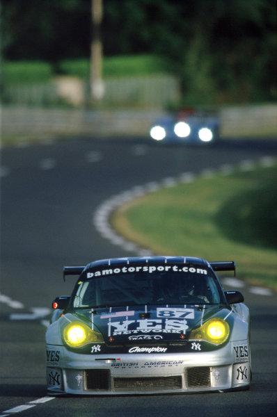 2004 Le Mans 24 HoursLe Mans, France. 12th - 13th June 2004.Hindery/Lieb/Rockenfeller (BAM/Orbit Racing Porsche 911 GT3-RSR) in action at the Porsche Curves.World Copyright: Glenn Dunbar/LAT Photographicref: 35mm Transparency Image