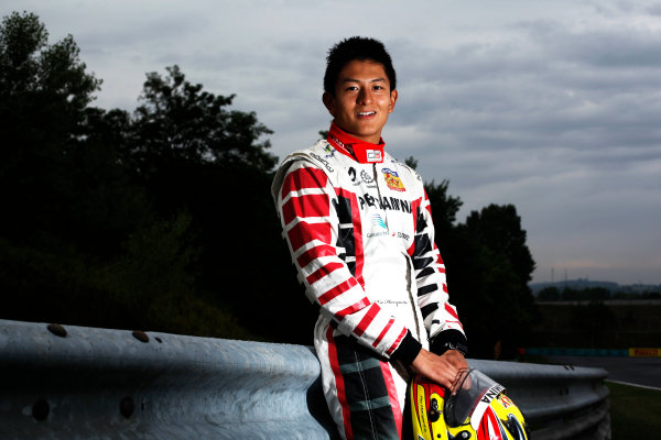 Round 6. Hungaroring, Budapest, Hungary, 28th July 2011.Thursday Preview. Rio Haryanto, (INA, Marussia Manor Racing) winner of race 9 at round five at the Nurburgring, Germany. Portrait. Photo: Drew Gibson/GP3 Media Service. ref: Digital Image DG5D7883