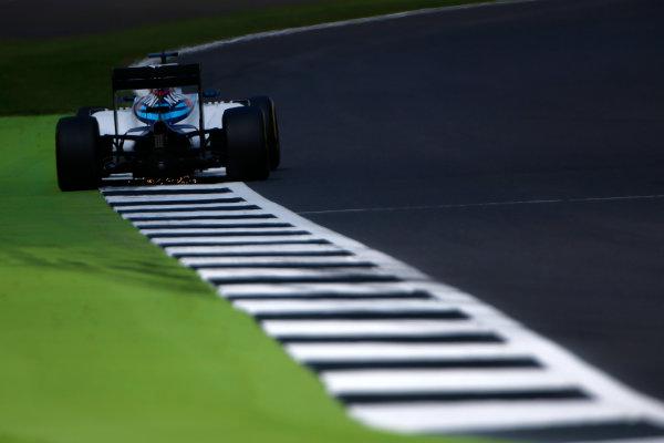 Silverstone, Northamptonshire, UK Friday 8 July 2016. Felipe Massa, Williams FW38 Mercedes. World Copyright: Hone/LAT Photographic ref: Digital Image _ONY7712