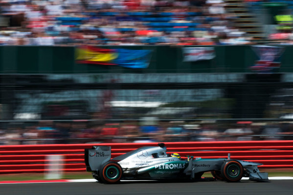 Silverstone, Northamptonshire, England 30th June 2013 Nico Rosberg, Mercedes W04 World Copyright: Chris Bird/  ref: Digital Image _CJB6639