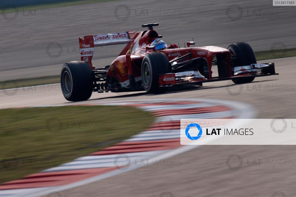 Shanghai International Circuit, Shanghai, China Sunday 14th April 2013 Fernando Alonso, Ferrari F138.  World Copyright: Glenn Dunbar/LAT Photographic ref: Digital Image _89P8701
