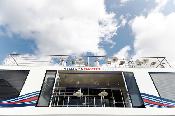 Spa Francorchamps, Belgium.  Thursday 24 August 2017. The Williams hospitality area. World Copyright: Glenn Dunbar/LAT Images  ref: Digital Image _31I3771