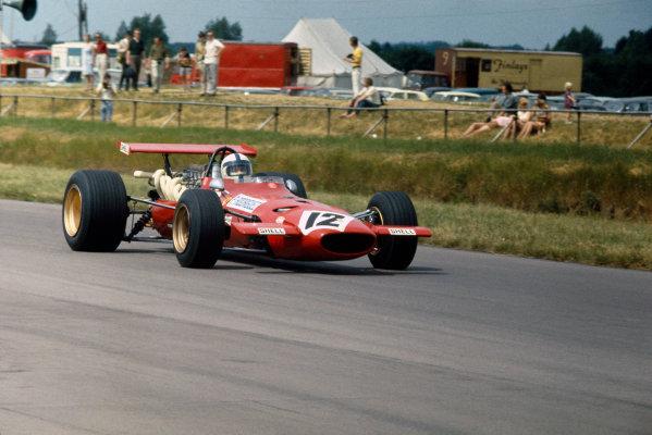 Silverstone, Great Britain. 19th July 1969.Pedro Rodriguez (Ferrari 312), retired, action. World Copyright: LAT Photographic.Ref: 69 GB 51.