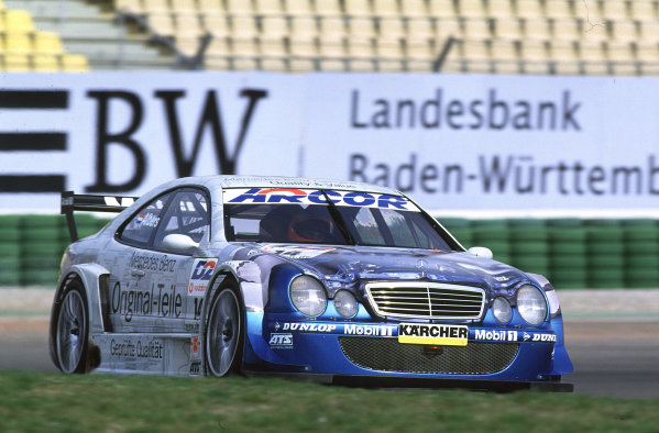 2001 DTM TestingHockenheim, Germany. 5th April 2001.Christian Albers, Persson Mercedes-Benz CLK - action.World Copyright: Peter Spinney/LAT Photographic.