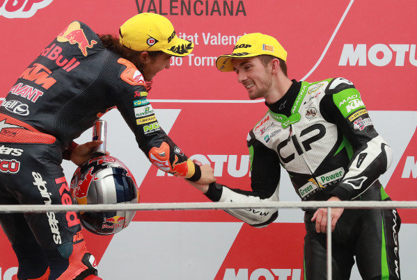 Podium: race winner Can Oncu, Red Bull KTM Ajo , third place John McPhee, CIP Green Power.