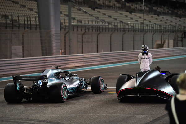 Valtteri Bottas, Mercedes-AMG F1 W09 EQ Power+ and Mercedes-Benz, EQ Silver Arrow concept car