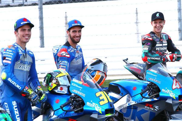 Joan Mir, Team Suzuki MotoGP, Alex Rins, Team Suzuki MotoGP, Fabio Quartararo, Petronas Yamaha SRT