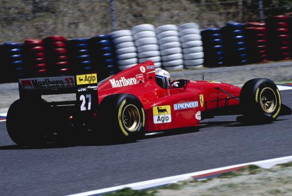 1994 Pacific Grand Prix.Aida, Japan. 15-17 April 1994.Nicola Larini (Ferrari 412T1).Ref-94 PAC 35.World Copyright - LAT Photographic