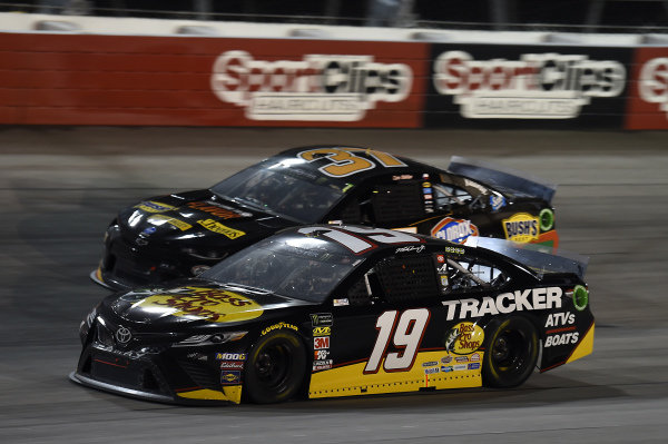 #19: Martin Truex Jr., Joe Gibbs Racing, Toyota Camry Bass Pro Shops, #37: Chris Buescher, JTG Daugherty Racing, Chevrolet Camaro Kroger Fast Lane to Flavor