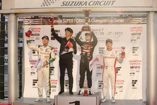 Winner Tomoki Nojiri ( #16 TEAM MUGEN ) 2nd position Nick Cassidy ( #37 VANTELIN TEAM TOM'S ) 3rd position Nirei Fukuzumi ( #5 DOCOMO TEAM DANDELION RACING )