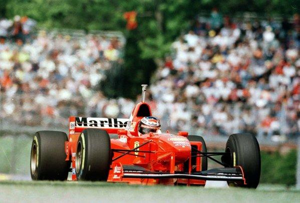 1997 San Marino Grand Prix.Imola, Italy.25-27 April 1997.Michael Schumacher (Ferrari F310B) 2nd position.World Copyright - LAT Photographic