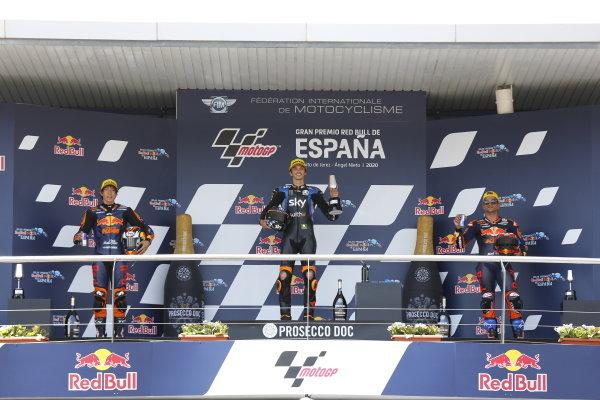 Tetsuta Nagashima, Red Bull KTM Ajo, Luca Marini, Sky Racing Team VR46, Jorge Martin, Red Bull KTM Ajo.