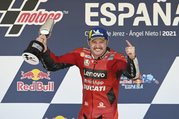 Podium: Race winner Jack Miller, Ducati Team.