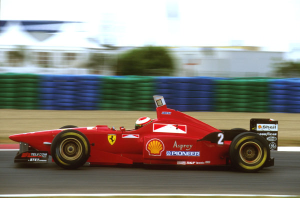 Magny-Cours, France.28-30 June 1996.Eddie Irvine (Ferrari F310) failed to finish because of gearbox problems.Ref-96 FRA 20.World Copyright - LAT Photographic